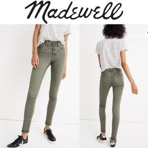 "MADEWELL 9"" High Rise Button Fly Skinny Jeans 27"